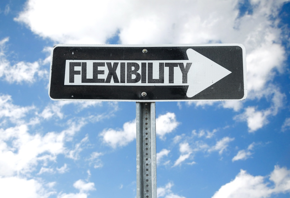 Flexibility direction sign with sky background.jpeg